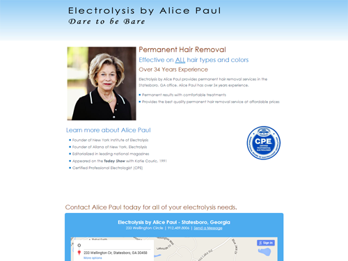 Alice Paul Electrolysis